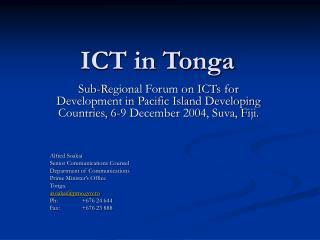 ICT in Tonga