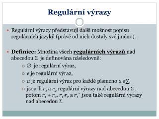 Regulární výrazy