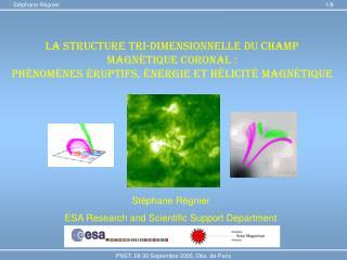 La structure tri-dimensionnelle du champ magn é tique coronal :