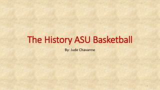 The History ASU Basketball