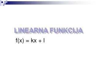 Linearna funkcija
