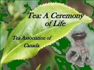 Tea: A Ceremony  of Life