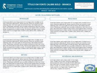 ESPAÇO PARA LOGO DE PARCEIROS E PATROCINADORES DO TRABALHO
