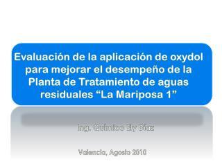 Evaluaci n de la aplicaci n de oxydol para mejorar el desempe o de la Planta de Tratamiento de aguas residuales  La Mari