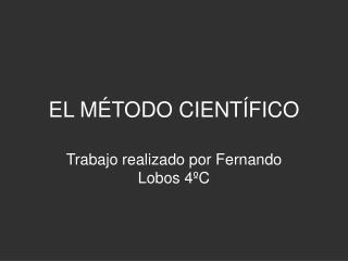 EL M TODO CIENT FICO