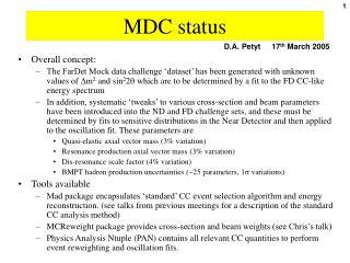 MDC status