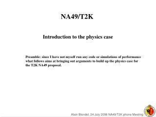 NA49/T2K