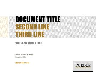 DOCUMENT TITLE SECOND LINE THIRD LINE