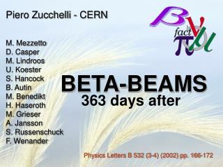 BETA-BEAMS