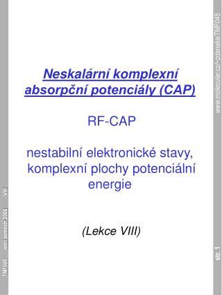 (Lekce  VIII )