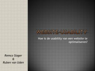 Website-Usability