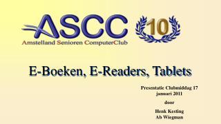 E-Boeken, E-Readers, Tablets