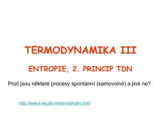 TERMODYNAMIKA III