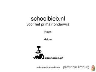 schoolbieb.nl  voor het primair onderwijs