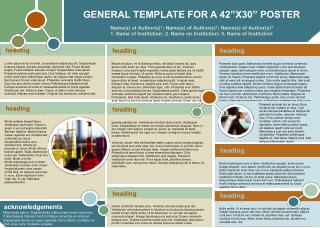 "GENERAL TEMPLATE FOR A 42""X30"" POSTER"