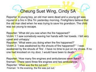 Cheung Suet Wing, Cindy 5A