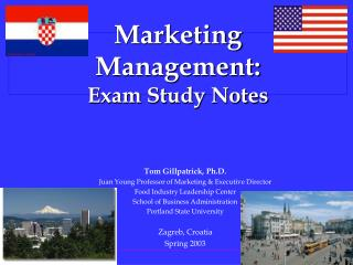 Marketing Management: Exam Study Notes