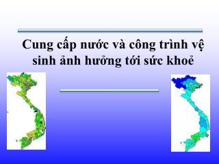 Cung cấp nước và công trình vệ sinh ảnh hưởng tới sức khoẻ