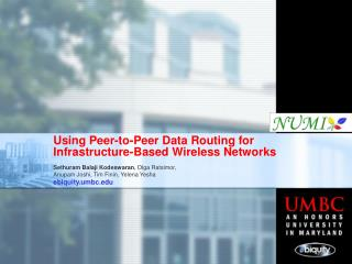 Using Peer-to-Peer Data Routing for Infrastructure-Based Wireless Networks