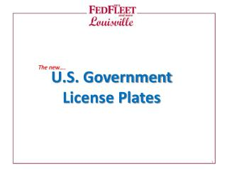U.S. Government  License Plates