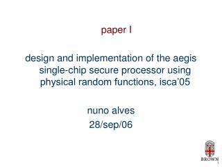paper I