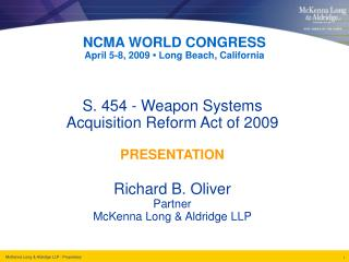 NCMA WORLD CONGRESS April 5-8, 2009  • L ong Beach, California