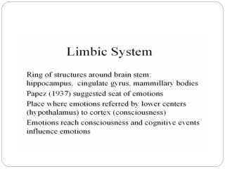 Anatomical Components of Limbic system