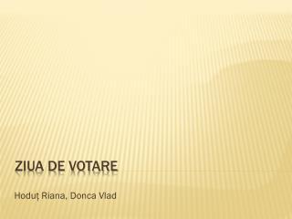 Ziua de votare
