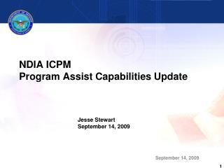 NDIA ICPM Program Assist Capabilities Update