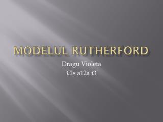 Modelul Rutherford