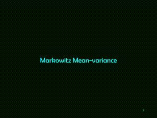 Markowitz Mean-variance