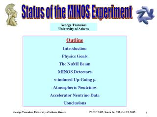 Status of the MINOS Experiment