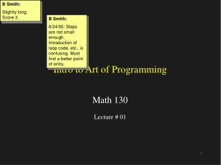 Intro to Art of Programming