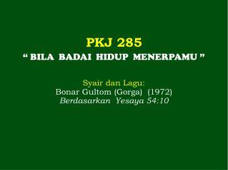 PKJ 285