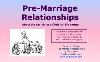 Pre-Marriage Relationships
