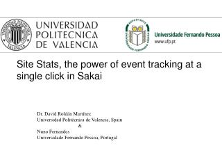 Site Stats, the power of event tracking at a single click in Sakai