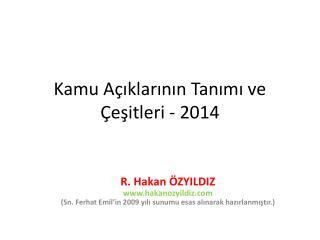Kamu Açıklarının Tanımı ve Çeşitleri - 2014