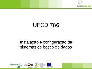 UFCD 786