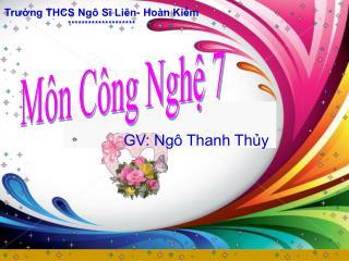 Môn Công Nghệ 7