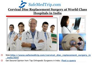 Cervical Disc Replacement Surgery Hospitals in India