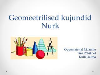 Geomeetrilised kujundid Nurk