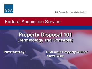Property Disposal 101  (Terminology and Concepts)