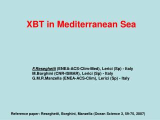 XBT in Mediterranean Sea