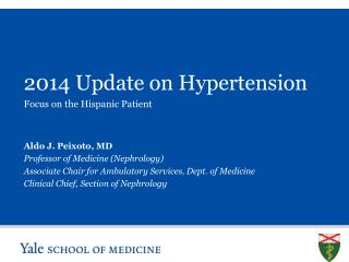 2014 Update on Hypertension