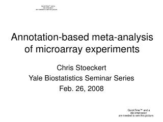 Annotation-based meta-analysis of microarray experiments