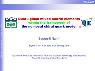 Quark-gluon mixed matrix elements within the framework of the nonlocal chiral quark model