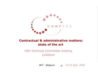 Contractual & administrative matters:  state of the art