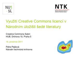 Vyu�it� Creative Commons licenc� v N�rodn�m �lo�i�ti �ed� literatury