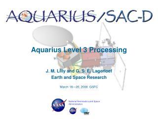 Aquarius Level 3 Processing