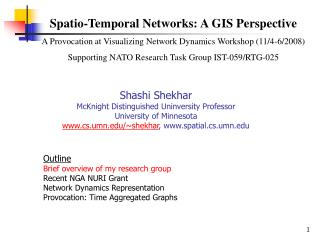Spatio-Temporal Networks: A GIS Perspective